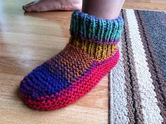 Ravelry: Nola's slipper pattern pattern by Nola Miller