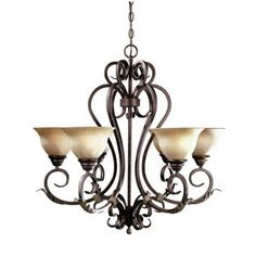 warehouse of tiffany rinee cage 12-light antique bronze chandelier
