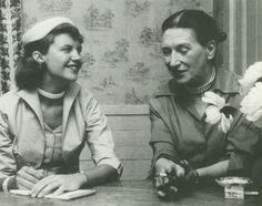 Sylvia Plath interviewing Elizabeth Bowen for Mademoiselle, summer of 1953 (Lilly Library, Smith College).