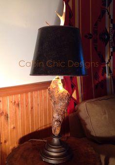 Unusual Burrell wood like formation lamp
