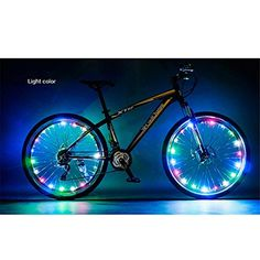 Happy Hours Waterproof 20 LED Bike Wheel Light String Safety Flash LED Strip Lamp for Night Riding Cycling Bicycle Spoke Fun Tire Light Working with 3AA BatteriesColorful >>> Want additional info? Click on the image.
