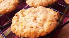 Crispy, chewy, coconut, oatmeal, cornflake cookies. Wow are these good!