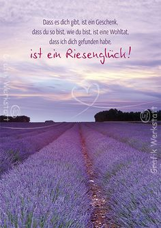 lucky - Purple Postcard -- That you are there, is a gift that you are as you are, is a blessing that I found you, is a very lucky! Romantic Humor, Disloyal Quotes, Thank You For Loving Me, Lines Quotes, German Quotes, Cecile, I Found You, Happy B Day, Big Love