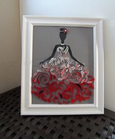 SOLD...Quilling wall art, quilling, quillingKimStarcher, paper quilling , paper art