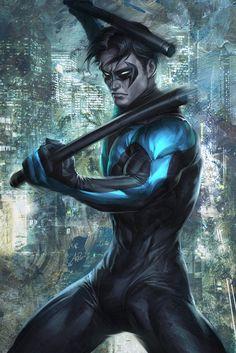 "Nightwing // Art by Stanley ""Artgerm"" Lau"
