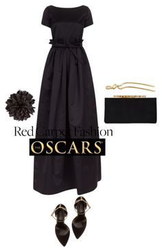 """""""BLACK GOWN"""" by amltra ❤ liked on Polyvore featuring Rochas, Oscar de la Renta, Jimmy Choo, Elizabeth and James and Gucci"""