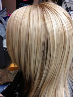 Multi blonde hair color ! I want this color but thicker low light pieces. Not as much light blonde.