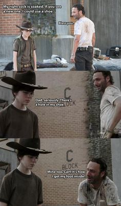 RICK AND CARL WALKING DEAD | February, 2014 in Funny | Comment