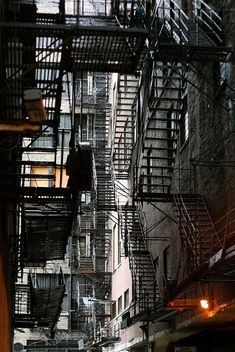 Back alleys / Fire escape stairs.