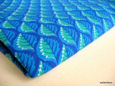 Indian Soft Cotton Border Print Fabric - Hand Block Printed  - Stamped Leaf Print Fabric via Etsy