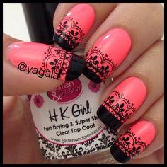 Lace nails Credit to @yagala (http://ift.tt/1tGtJ29)