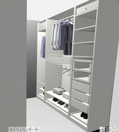I need to be honest--we struggled designing our closet. I think we always assumed once we had squared off corners in an open space (something we did during our bathroom renovation), it would just be Spare Room Walk In Closet, Spare Bedroom Closets, Master Closet, Ikea Closet System, Ikea Pax Closet, Wardrobe Behind Bed, Wardrobe Room, Walking Closet, Small Closet Design