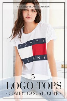 When it comes to fashion, well-placed logo tops are always timeless... And comfy! These are my favorite logo tees and sweatshirts from Tommy Hilfiger, Marc Jacobs, Adidas, Isabel Marant and Saint Laurent.