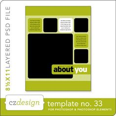 Cathy Zielske's Layered Template No. 033 - Digital Scrapbooking Templates