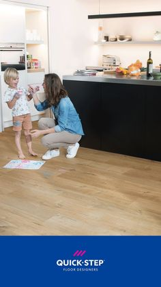 If you're looking for a floor that offers style and practicality in abundance, Alpha Vinyl is an offer you can't refuse. Its ultra-strong core and unique top layer protects against stains, scratches and impact damage, while the innovative click system ensures the most water resistant vinyl floor ever made. . 📷Quick-Step Alpha Vinyl Medium Planks 'Cotton oak natural' (AVMP40104) . #oak #flooring #vinyl #kitchen #inspiration Pvc Flooring, Laminate Flooring, Vinyl Flooring, Kitchen Flooring, Quick Step Flooring, Wood Design, Types Of Wood, Plank, Stains