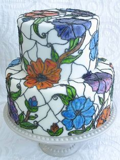 Stained Glass Cake Tutorial | Violets & Vanilla