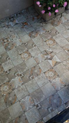 Piso Patio Mix Gris 45x45 #casa #interiores #pisos #decoración #hogar #revestimiento #baño