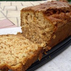 Incredibly Moist Apple Bread Recipe, I have a few apples that are a littel ripe (the littles don't like them when they're soft) so I will be making this little treat for my loves. Adding walnuts makes this a wonderful tea bread with texture. Just Desserts, Delicious Desserts, Dessert Recipes, Yummy Food, Apple Desserts, Recipes Dinner, Bread Cake, Dessert Bread, Moist Apple Bread Recipe