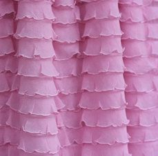 Pink Ruffle Curtain MORE COLORS by SnickerdoodleClothes on Etsy, $49.99