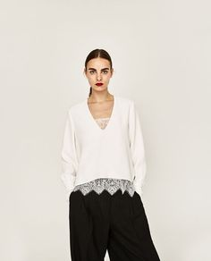 Image 4 of CONTRAST TOP from Zara $49.90 Size Small