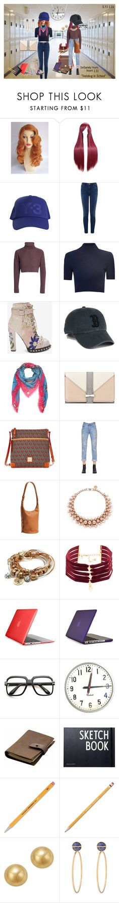 """""""Insert 131"""" by sariespencer ❤ liked on Polyvore featuring Y-3, Warehouse, Glamorous, Gucci, Nine West, Dooney & Bourke, Forte Couture, BAGGU, Ellen Conde and Lizzy James"""