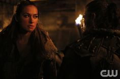 "The 100 -- ""Die All, Die Merrily"" -- Image HU410b_0169 -- Pictured (L-R): Tasya Teles as Echo as Indra and Zach McGowan as Roan -- Credit: Bettina Strauss/The CW -- © 2017 The CW Network, LLC. All Rights Reservedpn"