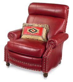 #DreamInColor GOTTA HAVE A BIG OL' RECLINER FOR HUBBY  A big deal! Already have one in a nice supple aged leather (brown) to match NEW SOFA & FABRIC COLOR
