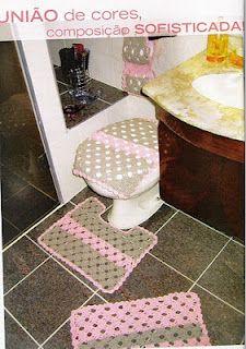 #1 Bathroom decor with diagram, filet work