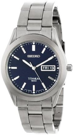 Seiko Men's SGG709 Titanium Case and Bracelet Watch   Your #1 Source for Watches and Accessories