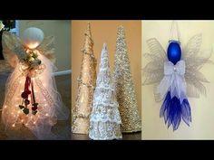 Diy, 5 minute crafts, Tassel Angel, Christmas, rag dress, Tattered crafts, decor, fabric crafts - YouTube