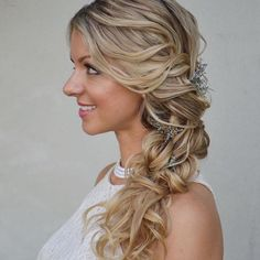 Twisted Side-swept Bridal Updo Hair Flip, Bridal Updo, Updos, Long Hair Styles, Photo And Video, Side Swept, Instagram Posts, Beauty, Up Dos