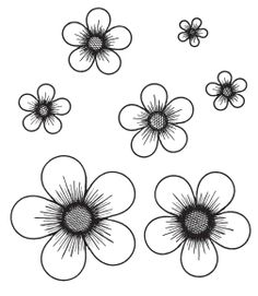 - Flower Coloring Pages, Flower Crafts, Flower Art, Flower Stamp, Brother Scan And Cut, Flower Clipart, Hand Drawn Flowers, Felt Flowers, Paper Flowers