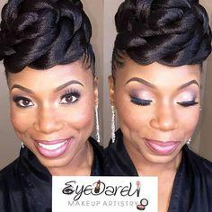 African American bridal makeup ~African fashion, Ankara, kitenge, Kente, African prints, Senegal fashion, Kenya fashion, Nigerian fashion, Ghanaian fashion ~DKK