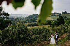 wedding couple in green