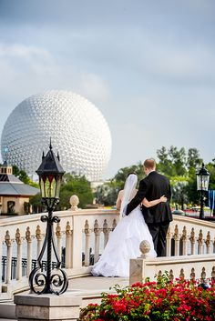 Add a hint of magic to your Disney's Fairy Tale Wedding with a portrait session in Epcot