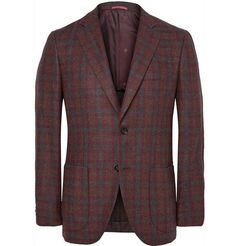 The slim-fit wool and cashmere #Isaia blazer.  Team it with light blue shirt and dark pants.