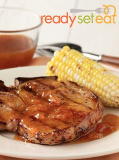 Grilled Pork Chops with Apricot-Mustard Glaze… Take your cookout to a new and delicious level with these chops.