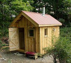 Outdoor Sauna Designs | Outdoor Wood-Burning Sauna