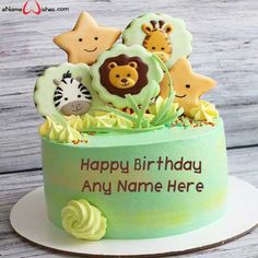 Write name on Amazing Safari Birthday Name Cake with Name And Wishes Images and create free Online Happy Birthday Cakes And Wishes Images with name online. Happy Birthday Princess, Happy Birthday Name, Birthday Party For Teens, Cartoon Birthday Cake, Birthday Wishes Cake, Birthday Celebration, Birthday Images For Her, Birthday Cake Pictures, Butterfly Birthday Cakes