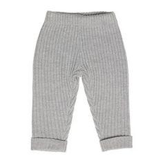 Soft Merino Wool Rib Pants