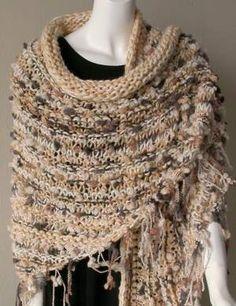 free shawl knitting pattern - Nubbles + Iceland Shawl -Crystal Palace Yarns