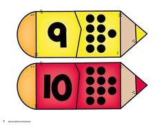 Back to School Number Matching - Kindergarten Math Centers Apple Activities, Toddler Learning Activities, Learning Time, Numbers Preschool, Math Numbers, Kindergarten Worksheets, Childhood Education, Kids Education, Maths Paper