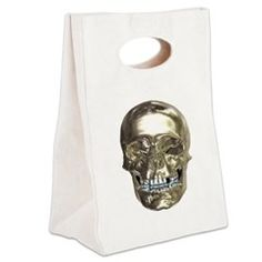 Chrome Skull Canvas Lunch Tote > Lunch Bags > Atteestude T-Shirts And Gifts  #school supplies