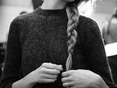 sweaters and braids