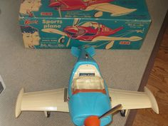 1964 Irwin Barbie and Ken's Sports  Plane with Box and Instructions Reduced  #Irwin #Vehicles