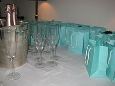 Breakfast at Tiffany's Party Favor Bags via- Two Houses