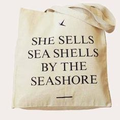\'She Sells...\' Long Handled Shopper