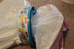 Bag of 100 up&up scented garbage bags = $4. Diaper Genie II refill (about 5 full bags) = $6. I've been doing this little trick for ages, and I gotta say, I don't miss the refills one bit!