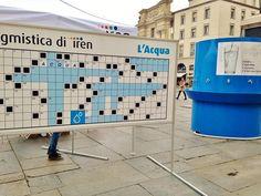 22 Marzo: in Piazza Garibaldi il cruciverbone di Iren per festeggiare la Giornata Mondiale dell'acqua e scoprire i vantaggi dell'acqua pubblica.