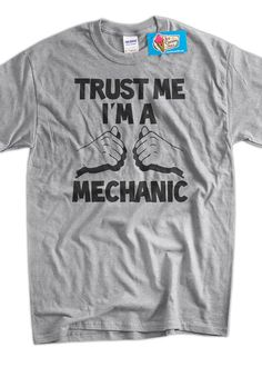 Trust Me I'm A Mechanic Father's Day Christmas by IceCreamTees, $14.99